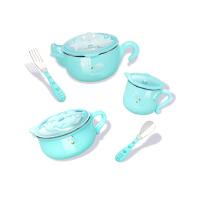 棒棒猪婴儿童餐具套装保温碗辅食碗勺宝宝不锈钢防摔吸盘碗