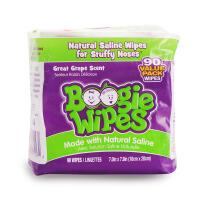 美国Boogie Wipes鼻涕虫宝宝湿巾90抽葡萄味儿童擦鼻涕湿巾湿纸巾