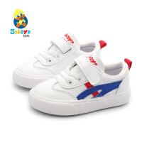 芭芭鸭儿童小白鞋板鞋宝宝鞋1-3岁软底男童休闲鞋女童学步鞋韩版