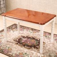 地中海美式乡村全实木餐桌长方形人餐桌椅组合小户型实木家具