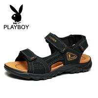 花花公子 男士凉鞋沙滩鞋耐磨透平底鞋英伦韩版凉拖鞋男 德-CX39513