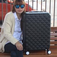 可爱密码箱拉杆箱子母箱万向轮旅行箱20寸22寸24寸行李箱男女皮箱 黑色 钻石纹单只