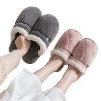 秋冬季棉拖鞋女家用时尚新款毛绒情侣家居室内软厚底防滑拖鞋男士