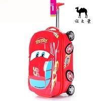 汽车拉杆箱儿童旅行箱20寸小学生男宝宝行李箱男童可坐骑拖箱18寸 红色汽车(出口品质) 18寸加粗【可坐骑】
