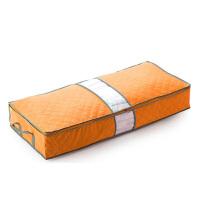 普�� 竹炭被子收�{袋70L 床底�p隙收�{箱 棉被收�{袋 橙色