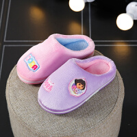 儿童拖鞋女公主小孩冬天保暖可爱女童防滑室内家居宝宝棉拖鞋