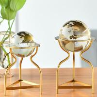 家居饰品摆件水晶球摆件地球仪客厅办公桌书房酒柜装饰品书柜摆设