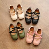 儿童鞋女童皮鞋公主鞋豆豆鞋平底浅口学生小女孩单鞋