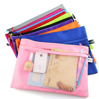 A4文件袋彩色a4资料袋双层拉链袋帆布袋文件包牛津布礼品袋子(1个)