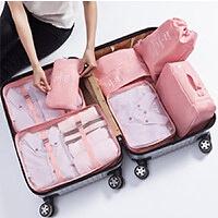 行李女韩版24小清新20密码箱子28寸旅行箱衣服整理包拉杆箱收纳袋 七件套装整理包(适用20-28寸行李箱内)