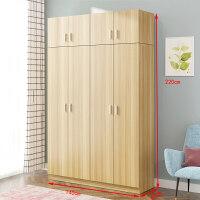 20190719125035220衣柜简约现代经济型组装实木板式租房宿舍简易单人双人家用小柜子 对开+顶柜 颜色备注