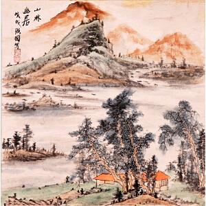 陆弼国《山林幽居》Y7101
