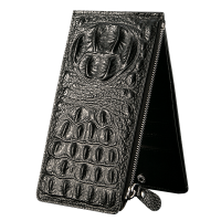 鳄鱼纹男士卡包多卡位男长款卡银行钱包皮商务大容量卡夹子