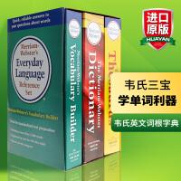 韦氏英语词典字典 全英文版词根字典+同义词词典+英语词典 英文原版 Merriam-Webster Dictionary 韦氏三宝 Thesaurus 进口工具书