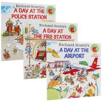 Richard Scarry's 忙碌的一天 英文原版绘本 飞机场 警察局 消防站 A Day at the Airpo
