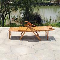 竹躺椅阳台家用休闲实木折叠懒人午休午睡床老人靠背凉椅子多功能