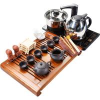 整套茶具套装家用简约现代功夫陶瓷茶杯电热炉茶台茶盘四合一