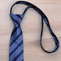 懒人领带男士窄版6CM拉链领带新郎结婚纯黑易拉得时尚领带 编号:E35 拉链