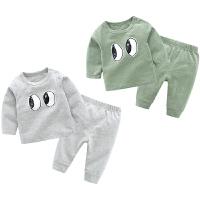 婴儿套装女宝宝6个月新生儿春秋季长袖套头两件睡衣家居服