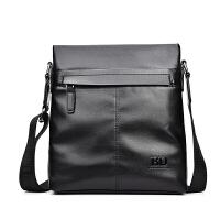 男包竖款单肩包男士斜挎包商务休闲大容量背包公文皮包包男软皮包