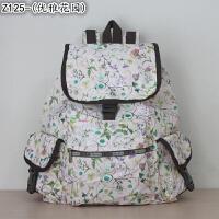 力士保新款学院风尼龙女士包包大号休闲包双肩书包背包旅行包7839 乳白色 Z125