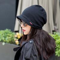帽子女韩版潮时尚百搭月子帽春秋款产后头巾女式潮帽