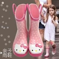 儿童雨鞋女童防滑橡胶水鞋幼儿宝宝亲子小童雨靴小孩学生防水胶鞋