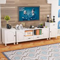 电视柜地中海小户型家具茶几组合北欧实简约现代木脚卧室电视机柜 组装