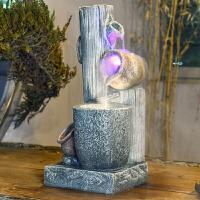 落地流水喷泉加湿雾化器客厅室内茶室装饰品风水招财礼品开业摆件