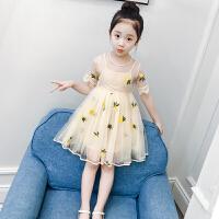 女童连衣裙夏装洋气童装裙子短袖小女孩儿童蓬蓬纱公主裙