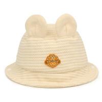 婴幼儿胎帽棉帽男女宝宝盆帽渔夫帽遮阳帽卡通透气单帽翻檐