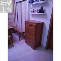 中式实木四五斗柜简约现代客厅卧室大容量储物收纳组合橡木角柜定制定制 组装