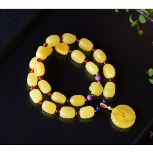 天然蜜蜡随形两圈手链