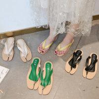 韩版百搭女士拖鞋 时尚外穿简约人字拖鞋女 新款休闲平底凉鞋女士凉拖鞋