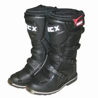 ARCX MOTORCYCLE BOOTS 黑色骑士摩托车赛车靴越野纤皮高筒靴
