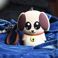 可爱小狗钥匙包多功能零钱包卡包拉链大容量糖果色手提钥匙保护套