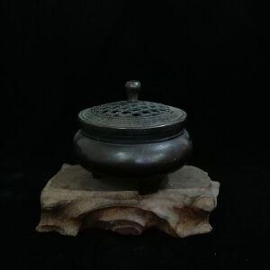 黑色香薰盒精品铜摆件