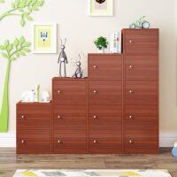 【满减优惠】包邮木质柜子储物柜带门加锁自由组合收纳置物柜儿童小书柜书架