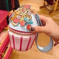 泰国小众设计Zakka糖果限量可爱纸杯造型手拎包零钱包单肩包 图片色