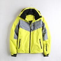 原单冬季户外运动冲锋衣外套防风衣男加厚保暖登山新品 黄色