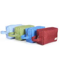 便携化妆包大容量手拿收纳袋韩国小号简约防水旅行随身洗漱品手提