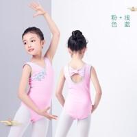 儿童舞蹈服女童 民族舞女孩练功服盘扣连体服考级服装