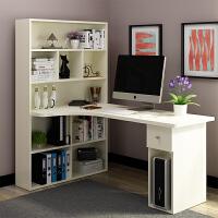 转角电脑桌台式家用简约现代学习桌学生书桌书架组合桌子书桌 C 1.6 带柜门 (颜色备注)