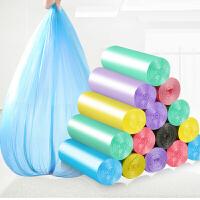 10卷装垃圾袋彩色垃圾袋 家用加厚新料韧性耐用垃圾袋