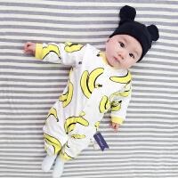 婴儿连体衣服宝宝新生儿冬季0岁3个月季7满月3春装季长袖新年