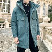 中�L款羽�q服男2020新款加厚冬季外套�r尚工�b羽�q服
