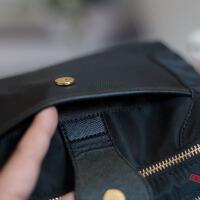 2018秋季新款实用女包牛津布包斜跨小包多层口袋防水尼龙包斜挎包 黑色 5597