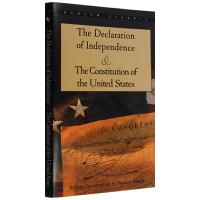 正版现货 独立宣言与美国宪法 英文原版书籍 The Declaration of Independence 美国历史全
