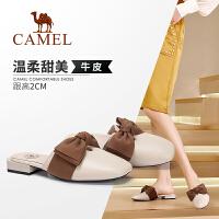camel 骆驼女鞋2019新款夏季穆勒鞋平底凉拖女网红凉鞋包头半拖鞋女外穿