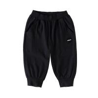 小猪班纳童装男童七分裤2020夏季新款儿童束脚休闲裤弹力运动裤